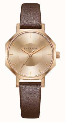 Klasse14 OKTO Rose Gold Brown Leather 28MM OK17RG001S
