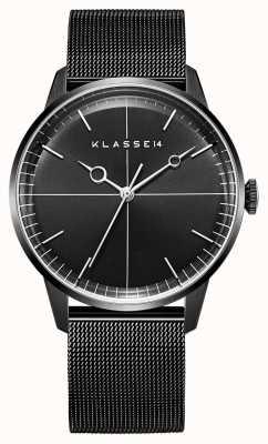 Klasse14 Disco Volante 40mm Black Milanese Mesh Bracelet WDI19BB001M
