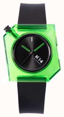 Klasse14 K14 Green Avo 40mm Black Silicone Strap WKF19GN001M