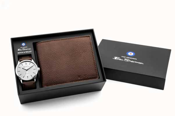 Ben Sherman Silver With 3 Hands PC21 Movement Alloy Silver Silver 40 Case Mineral Glass PU Strap Black Strap 3ATM BS163G