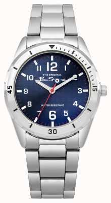 Ben Sherman 3 Hands; IP Silver  Alloy 33mm Case; Blue  Dial; Silver Stainless Steel Bracelet; WR BSK002USM G