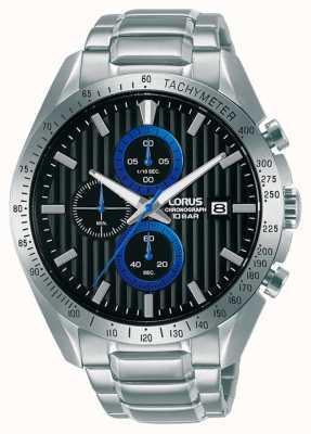 Lorus Sports Chronograph Quartz Black Dial Watch RM305HX9