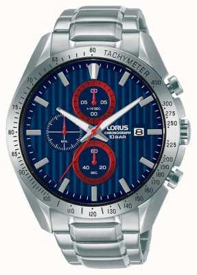 Lorus Sports Chronograph Quartz Blue Dial Watch RM307HX9