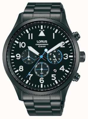 Lorus Chronograph Quartz Black-Plated Stainless Steel RT361JX9