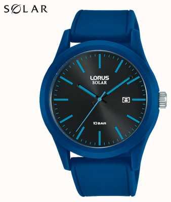 Lorus 42 mm Solar Watch Blue Silicone Strap RX305AX9