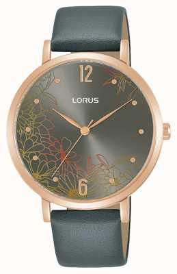 Lorus Women's Floral Design 36 mm Leather Strap RG294TX9