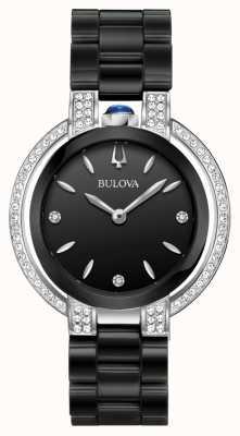 Bulova Rubaiyat | Diamond | Black Dial | Black Ceramic Bracelet 98R266