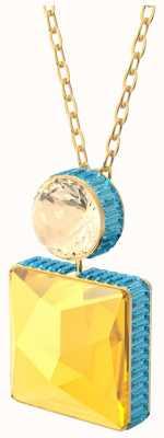 Swarovski Orbita | Necklace | Square Cut Crystal | Multicolored | Gold-Tone Plated 5600513