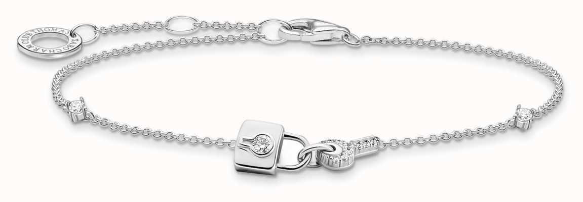 Thomas Sabo Sterling Silver   Padlock And Key Charm Bracelet A2040-051-14-L19V