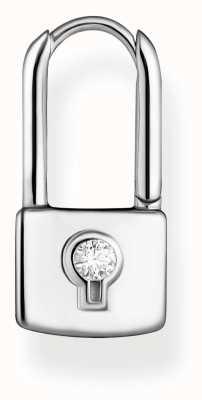 Thomas Sabo Sterling Silver Single Hoop Padlock Earring CR679-051-14