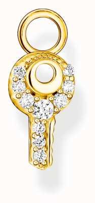 Thomas Sabo 18k Gold Plated Sterling Silver Single Key Earring Pendant EP015-414-14