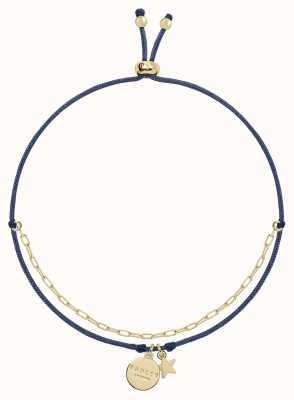 Radley Jewellery Love Radley Navy Cord and Gold Bracelet RYJ3106S
