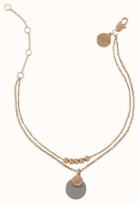 Radley Jewellery Stay Magical Rose Gold Grey Disc Pendant Bracelet RYJ3110S