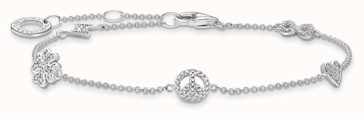 Thomas Sabo Sterling Silver Powerful Symbols Bracelet A2039-051-14-L19V