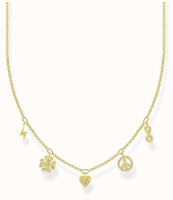 Thomas Sabo Charm Club | Gold Plated Sterling Silver | Symbols | Necklace KE2123-414-14-L42V