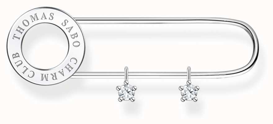 Thomas Sabo Sterling Silver Brooch   Silver Stones X0279-225-14