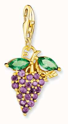 Thomas Sabo Sterling Silver 18k Yellow Gold Plated Grape charm Pendant 1878-472-7