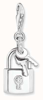 Thomas Sabo Sterling Silver Padlock & Keys Charm Pendant 1875-051-14