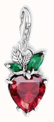 Thomas Sabo Sterling Silver Strawberry Charm Pendant 1877-667-7