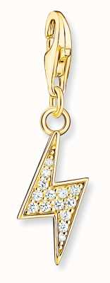 Thomas Sabo Sterling Silver 18K Yellow Gold Plated Flash Charm Pendant 1882-414-14