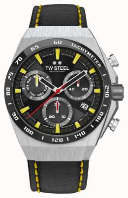 TW Steel Fast Lane CEO Tech Limited Edition Watch Yellow Details CE4071