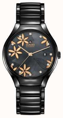 RADO True Great Gardens Of The World Black Floral Dial R27109902