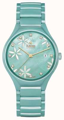 RADO True Great Gardens Of The World Turquoise Floral Dial R27114902
