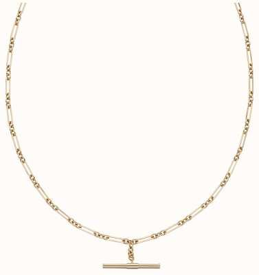 Elements Gold 9ct Yellow Gold T-bar Chain Necklace GN354