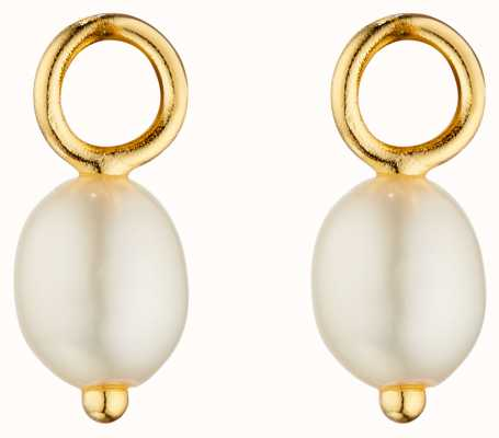 Elements Gold 9ct Yellow Gold Pearl Earrings GY017W