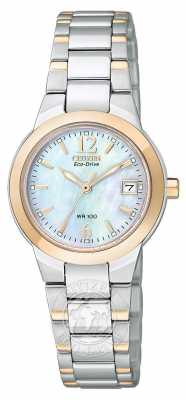 Citizen Womens Silhouette Two-Tone Rose Gold Eco-Drive EW1676-52D