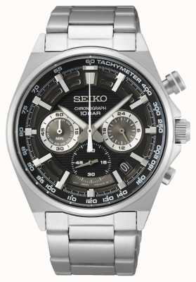 Seiko Men's Chronograph Watch Black Dial SSB397P1