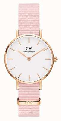 Daniel Wellington Petite 28 Rosewater | Pink Fabric Strap | White Dial DW00100319