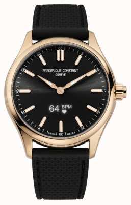 Frederique Constant Men's Vitality Smartwatch Black Dial Black Rubber FC-287BS5B4