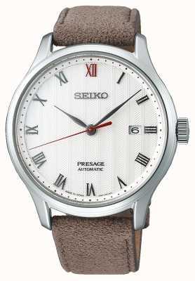 Seiko Presage Zen Garden Brown Leather Strap Watch SRPG25J1