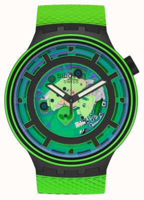 Swatch Big Bold Planets | Come In Peace | Green Silicone SB01B125