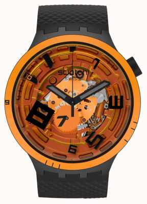 Swatch Swatch Big Bold Planets | OOPS! | Black Silicone SB01B127