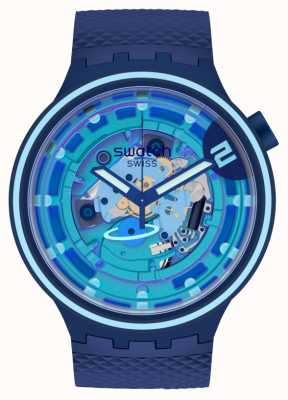 Swatch Big Bold Planets | Second Home | Blue Silicone SB01N101