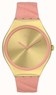 Swatch Skin Irony Blush Quilted Pink Leather Strap SYXG114