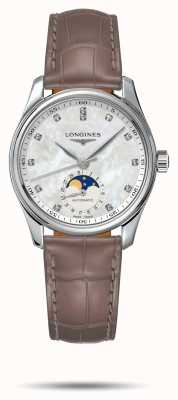 Longines Master Collection Women's Beige Leather Strap L24094874