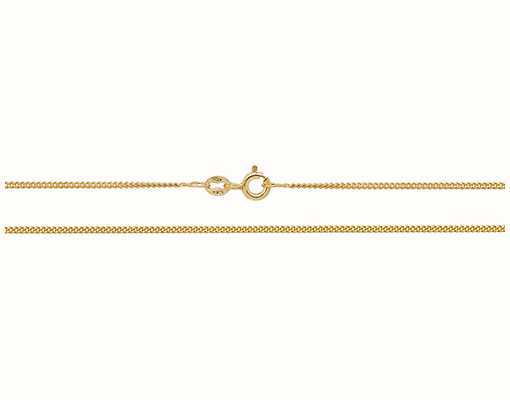 """James Moore TH 9ct Yellow Gold Closed Curb 16"""" Chain CH161/16"""