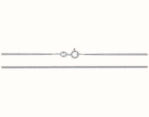 """James Moore TH 9ct White Gold Closed Curb Chain 20"""" CH161W/20"""
