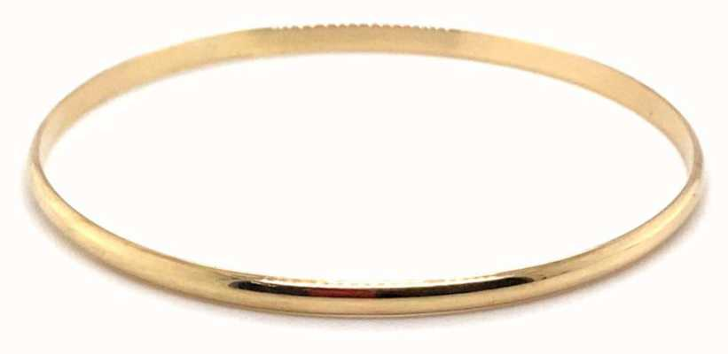 9ct Gold Solid D Shape Bangle Curties Gdeb1 J30360