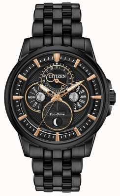 Citizen Men's Moonphase Black PVD Stainless Steel BU0057-54E
