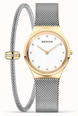 Bering Women's Classic Polished Gold Watch and Bracelet Set 12131-010-190-GWP1