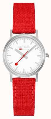 Mondaine Dark Cherry Recycled Textile With Cork Lining A658.30323.17SBC1
