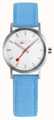 Mondaine Deep Ocean Blue Recycled Textile With Cork Lining A658.30323.17SBD1