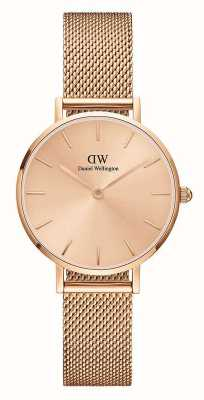 Daniel Wellington Petite Unitone Rose Gold Milanese Mesh Bracelet DW00100470