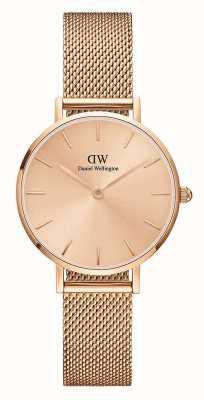 Daniel Wellington Petite Unitone 32mm Rose Gold Milanese Mesh Bracelet DW00100471