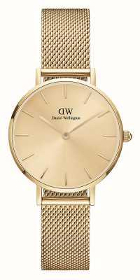 Daniel Wellington Petite Unitone 28mm Gold Milanese Mesh Bracelet DW00100473