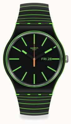 Swatch NEW GENT | GLOW THIS WAY | Bio-Sourced Plastic SO29G702